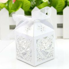 Estone 50pcs Love Heart Laser Cut Wedding Party Table Name Place Cards Favor Decor (White, Candy Boxes) by Estone, http://www.amazon.co.uk/dp/B00J5YML0Y/ref=cm_sw_r_pi_dp_NUNrtb18ECTPS