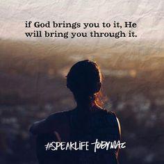 #Quote #TobyMac #SpeakLife #God #brings #through #BeBlessed