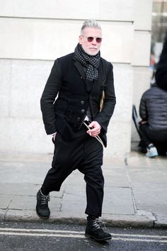 Nick Wooster London, Mens Week FW15 Street Style Fashion                                                                                                                                                      More