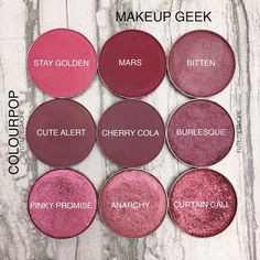Colourpop VS Makeup Geek singles - Reds and Burgundies Makeup Vs No Makeup, Makeup Dupes, Makeup Goals, Love Makeup, Skin Makeup, Makeup Inspo, Makeup Inspiration, Beauty Makeup, Makeup Geek Eyeshadow