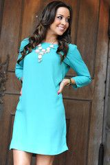 Where Have You Been Dress: Bright Jade