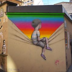 Seth Globepainter paints a new street piece in Paris, France