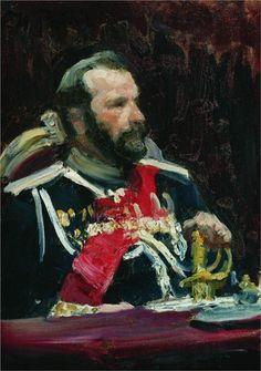 Portrait of War Minister, infantry general and member of State Council State Aleksei Nikolayevich Kuropatkin, 1903  Ilya Repin