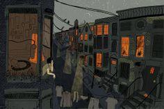 """Neighbors"" by Lily Padula on #INPRNT - #illustration #print #poster #art"