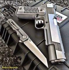 knives, guns, and tactical gear yay Rifles, Airsoft, 1911 Pistol, Custom Guns, Custom 1911, Fire Powers, Cool Guns, Guns And Ammo, Tactical Gear
