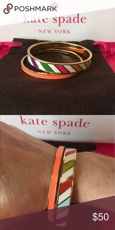 Kate Spade Bracelet Bundle Colorful set of two bangles bundled together kate spade Jewelry Bracelets