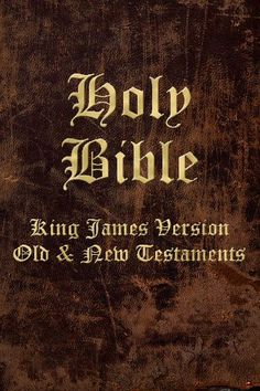 Holy Bible, King James Version. Old & New Testamtent Bible-- STUDY MORE!!--Note to self!!!!!!