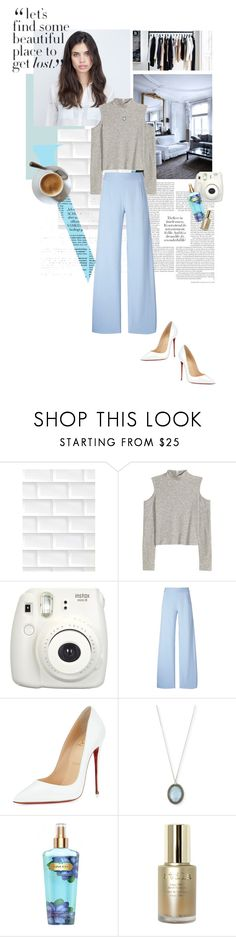 """lost souls."" by middayxmuse ❤ liked on Polyvore featuring 3M, Victoria Beckham, H&M, Fujifilm, Christopher Kane, Christian Louboutin, Armenta, Victoria's Secret and Stila"