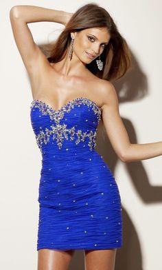 Short Strapless Sweetheart Dress ML-9156