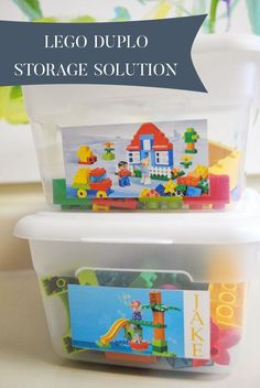 Lego Duplo Storage Solutions! Such an easy way to store all of your lego sets!