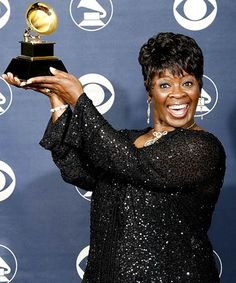 Irma Thomas with her Grammy for best contemporary blues album. Her son JT was a fan of my dance company. We met lots.