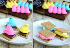 DIY: Peep S'mores For Easter -- S'meeps!...pretty sure this just makes me think of Scott and how he'd love this:)