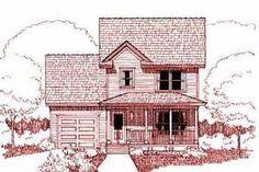 Farmhouse Exterior - Front Elevation Plan #79-124 - Houseplans.com