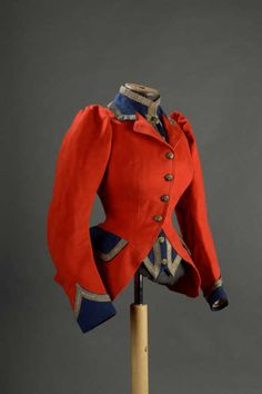 1880 hunting jacket Historical fashion and costume design. 1880s Fashion, Victorian Fashion, Vintage Fashion, Victorian Ladies, Hunting Jackets, Hunting Clothes, Hunting Suit, Historical Costume, Historical Clothing