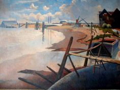 I thought I'd start today with The Thames at Rainham by Walter Steggles from 1933 Camden London, Camden Town, London Art, East London, Romanticism Artists, London Places, Group Pictures, Scenery, British Artists