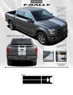Ford F Body Decals Raptor Style FORD F Decals Stripes - Truck bed decals custom