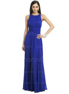 A-Line/Princess Scoop Neck Floor-Length Chiffon Mother of the Bride Dress With Ruffle (0085060133)