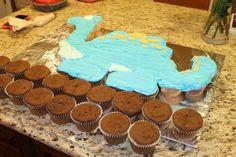 Dino Dinosaur Cupcake Cake 02
