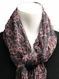 Here's a whole page of different styles of neck scarves with instructions and videos on how to tie each.  Click the pic