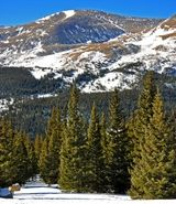 Mount Bross 14,197. Mount Bross, one of Colorado's easiest fourteeners to climb, towers above Hoosier Pass in central Colorado.