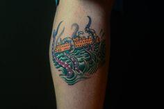 Author Rob Hart's tattoo by Magie Serpica, Milk & Honey Tattoo, Staten Island, NY