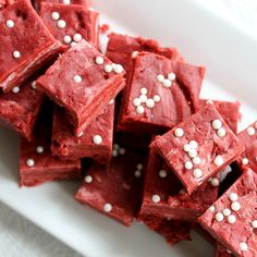 Make this red velvet fudge recipe for Valentine's Day, Christmas, or any other occasion. An easy microwave recipe that takes just minutes!