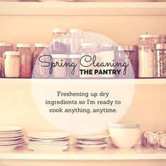 Spring cleaning the pantry