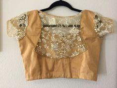Golden Blouse Designs, Saree Blouse Neck Designs, Stylish Blouse Design, Fancy Blouse Designs, Net Blouses, Kurta Neck Design, Designer Blouse Patterns, Boat Neck, Designers