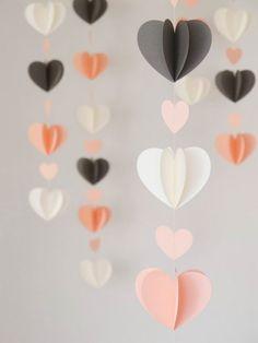 DIY Paper Heart Garlands