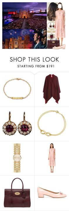 """""""(Read) Going out on a date with Fred and attending the Fanfare & Fireworks concert at the Hampton Court Palace Festival"""" by marywindsor ❤ liked on Polyvore featuring Burberry, Tiffany & Co., Orla Kiely, Lover, Mulberry and Salvatore Ferragamo"""
