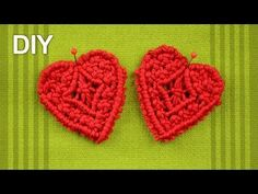 ▶ How to make Macrame HEART / DIY Tutorial - YouTube