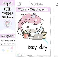 Check out A079 | computer stickers,laptop stickers,lazy day stickers,relax stickers,nap stickers,live planner,functional stickers,eclp,kawaii clipart on twinkletheunicorn