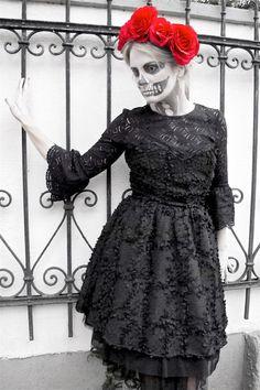 4be7a2edf33 Heartfelt Hunt - Día de los Muertos - Black cocktail dress