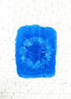 sunprint art  DIY | designlovefest