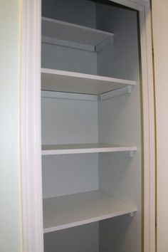 the easiest, cheapest ways to add wooden shelves to a pantry or closet. Seriously, all you need is a hammer and nails!