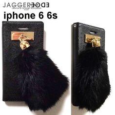 JAGGER EDGE ジャガーエッジ アメリカ の ラグジュアリー 2つ折り カード入れ付き Butterfly smart wallet gold bunny charm iphone 6 6s ケース 海外 ブランド