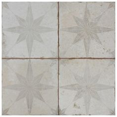 Provide an impressive and innovative look to your wall space by choosing this Merola Tile Kings Star White 175/175/ Ceramic Floor and Wall Tile. House Tiles, Wall Tiles, Mosaic Tiles, Shower Floor, Tile Floor, Tile Projects, Wall Patterns, Stone Tiles, Vintage Industrial