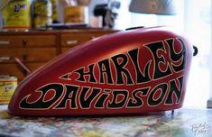 Harley-Davidson Tankbemalung.. by Sign Atelier Leipzig ~2018~ #alwayshandpaint #SignPainter #Lettering #handpainted #handlettering #madeinleipzig #practicemakesbetter #typewip #typegang #signpainter...