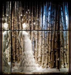 Fifth Avenue window display--love the aspens