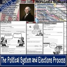 This 77 slide PowerPoint presentation on the political system and election process covers a myriad of topics. Teaching Us History, Help Teaching, Propaganda Techniques, Presidental Election, Two Party System, Election Process, Interest Groups, High School Classroom, Public Opinion