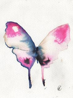 Lovely watercolor. The colors float like a butterfly through the air.