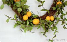 simple lemon wreath