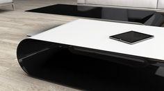 low table made of carbon fiber. matte white top, transparent laquered carbon fiber inner part. Low Tables, Furniture Making, Carbon Fiber, Solid Wood, Furniture Design, Top, Carbon Fiber Spoiler, Coffee Tables, Crop Shirt