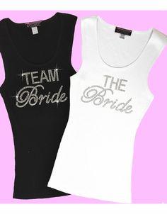 574b1c8edd03f8 Rhinestone Team Bride Tank Top Or Tee