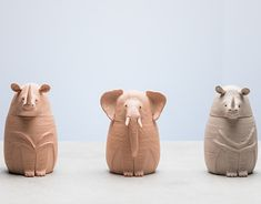 Canopic Jars, Animal Sculptures, New Work, Hand Carved, Porcelain, Behance, Carving, Profile, Gallery