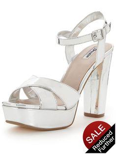 6e068e5b781 Dune Mexico Platform Sandals - Silver Metallic Polish your party picks with  these Mexico platform sandals
