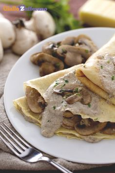 The Italian Food of Trentino-Alto Adige Crespelle Recipe, Veggie Recipes, Diet Recipes, Savory Crepes, Ravioli, Brunch, Best Dinner Recipes, My Best Recipe, Food Humor