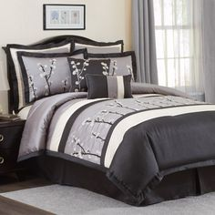 Black White and Gray Bedding
