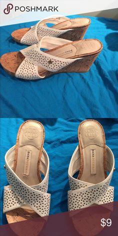 fc472aba7 Dana Buchanan Wedge Sandals Wedge Open-Toe White strap Dana Buchman Shoes  Wedges