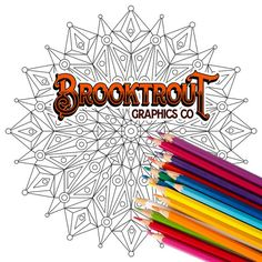 Downloadable and Printable Coloring by BrooktroutGraphicsCo